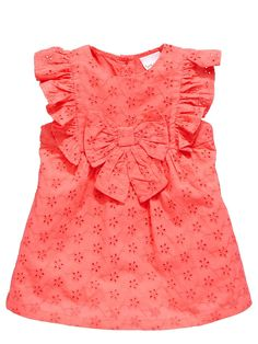 Ladybird Baby Girls Schiffli Occasion Dress The perfect summer dress for… Cotton Frocks For Kids, Kids Frocks, Frocks For Girls, Baby Dress Design, Baby Girl Dress Patterns, Frock Design, Newborn Girl Dresses, Little Girl Dresses, Girls Dresses