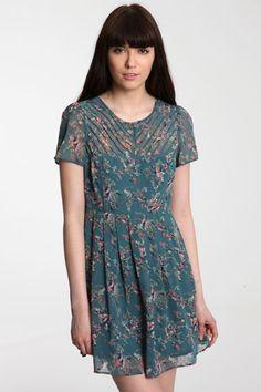 Pins & Needles Printed Pintuck Dress
