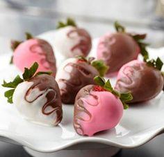 Half-and-Half Swirled Strawberries