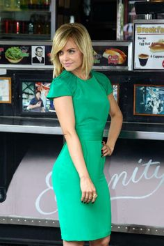 Mena Suvari.. love her, love her green dress!  http://www.secretkrushcorner.com/collections/frontpage/products/flutter-halter-dress
