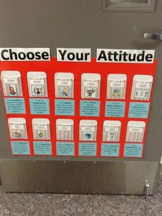 IB Attitudes - each day, students choose an attitude they'd like to display.
