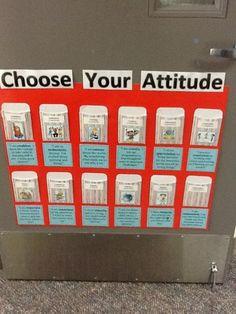 IB Attitudes - each day, students choose an attitude they'd like to display. Ib Classroom, 4th Grade Classroom, Classroom Organisation, Kindergarten Classroom, Classroom Management, Classroom Ideas, Ib Attitudes, Ib Learner Profile, International Baccalaureate
