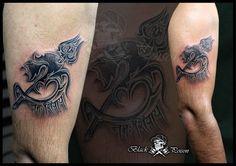 #Om #With #Trishul #Tattoo