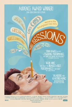 The Sessions Movie Poster - handrawn versions of Helen Hunt and John Hawkes.