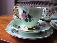 Vintage bone china tea cup trio by IvyRoseVintage on Etsy, £10.00