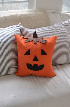 Look Alike Jack O' Lantern Pillow