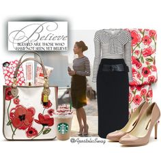 A fashion look from March 2013 featuring Sonia by Sonia Rykiel tops, Rupert Sanderson pumps and Coach tote bags. Browse and shop related looks.