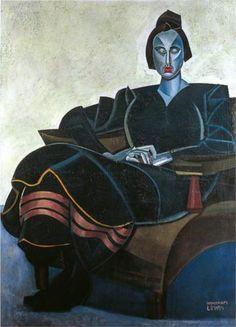 Praxitella by Wyndham Lewis Harlem Renaissance, Van Gogh, Wyndham Lewis, 20th Century Painters, Henri Rousseau, Art Deco, Artist Quotes, Art Database, Art Uk