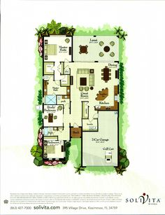 The Queen Palm Collection St John Floor Plan in Solivita, Kissimmee FL