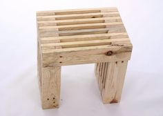 I turn reclaimed pallet wood into simple (yet stylish!) garden foot stools. I love the lattice effect you can get when working with reclaimed pallet timber, its striking and allows water to drain off the piece so it drys quickly (ideal in the UK weather...)  This piece goes well with two of my other pallet wood garden pieces:  Sculptural Garden / Patio Chair: https://www.etsy.com/uk/listing/249593469/sculptural-garden-patio-chair-made-from  Garden / Pat...