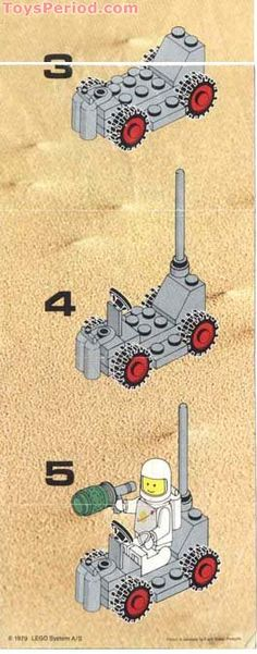 lego space instructions | Space Buggy Free Instruction Page 2