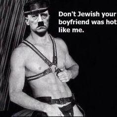 Funny Memes about Hitler Hitler Jokes, Memes Humor, Funny Memes, Bf Memes, Dark Sense Of Humor, Offensive Humor, Akita, Funny People, Chistes