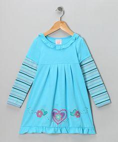 Blue Heart Dress - Toddler & Girls #fall fashion at #zulily