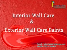 There are many questions arise when you are planning for the #interior and #exteriorwalldecor. Your all questions will be answered at Panache GreenTech Solutions Pvt Ltd. They offers the #Interior and #Exteriorwallcare products which is come with great quality. | info@panachegreen.com | +91 99251 88046 | http://www.panachegreen.com #Interiorwallcare #Exteriorwallcare #Wallcare #panachegreen #india