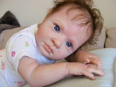 Reborn Supplies 24 inch Vinyl Doll Kit Peach Baby Rowan by Jessica ...