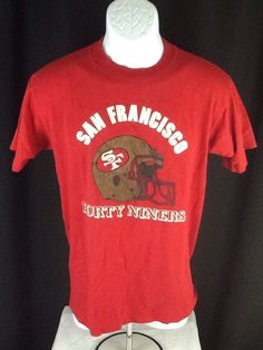 Vintage 80s San Francisco 49ers NFL football NFL thin red t-shirt  HTF #Unbranded #GraphicTee