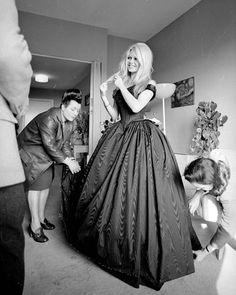 Brigitte Bardot In A Dress Ing