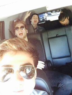 I love that in Cal's sunglasses you can literally see him holding up the phone