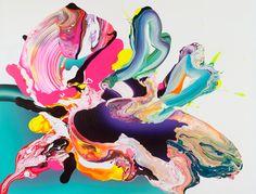 spectacular color - acrylic paintings from Barcelona born, Berlin based artist Yago Hortal