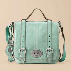 fossil maddox organizer flap in mint green ~ i have this in brown