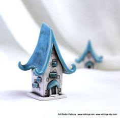 Autumn turquoise sky House of tiny fairies by studio by vishnya, $21.00