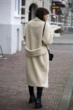 teddy shearling monki coat balenciaga boots chloe georgia bag