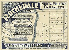 Poster Estate Map - Rochedale Fruit and Poultry Farmlets, Rochedale South