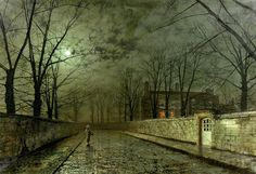 Silver Moonlight Painting - John Atkinson Grimshaw