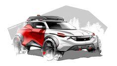 Peugeot offroad , car design sketch by Julien FESQUET / ISD
