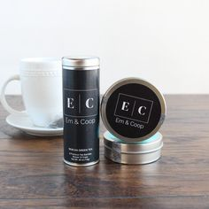 These personalized skinny tea tin favors are the perfect way to present sachets of tea to your guests.