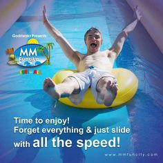 Time to enjoy ! Forget everything & just #slide with all the speed !  #MMFunCity #Waterpark #Fun