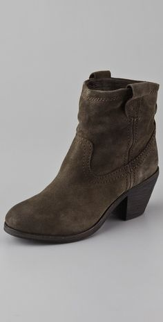 "Can't afford the Isabel Marants, so these will be my wear-all-the-time suede boots.  :)  Ash ""Nina""."