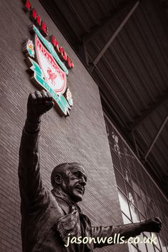 Bill Shankly - He made the people happy. To view the image in full size & to see my other images taken in/around Liverpool please click on the thumbnail. #liverpool #lfc #thekop #shankly #anfield