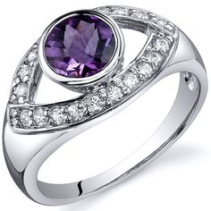 """The unofficial Night Vale ring. """"Captivating Curves 0.75 carats Amethyst Sterling Silver."""""""