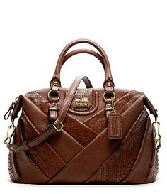 Love Love - Coach Diagonal pleated mixed Exotic Juliette $498