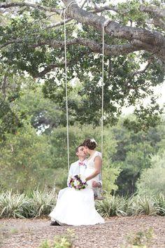Must-Have Photos- Summer Wedding Ideas.A sweet, romantic photo idea. Wedding Kiss, Wedding Bells, Our Wedding, Dream Wedding, Wedding Swing, Wedding Night, Perfect Wedding, Lace Wedding, Wedding Abroad