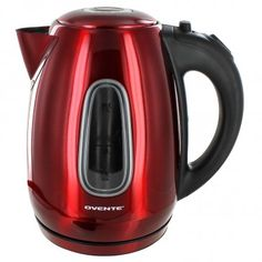 Ovente Electric Stainless Steel Kettle - 1.7 Liters - Red