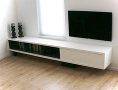DIY Design and plans Floating tv cabinet 'Arturo XL' by NeoEko, build by Ralph.   Ontwerp en bouwtekeningen door NeoEko, gebouwd door Ralph. Zwevend tv-meubel Arturo XL