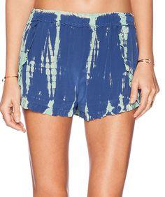 Gypsy 05 blue and aquamarine tie dye shorts