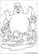 frosty snowman coloring for kids pdf printable | coloring pages ... - Frosty Snowman Coloring Pages