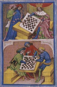 Biblioteca Nacional de España, Cod. Vitr. 25-6, f. 6r. Jacobus de Cessolis, Liber de moribus hominum et officiis nobilium sive super ludum scaccorum (Book of the customs of men and the duties of nobles or the Book of Chess).