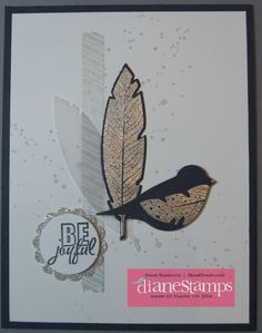 Stampin Up Four Feathers and Bird Builder Punch from #stampinup