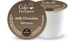 Milk Chocolate K-Cup® Hot Cocoa by Café Escapes® - Keurig.com