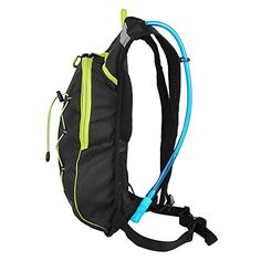 Hydration pack FLASHING LED LIGHT Hydration backpack - 2 L water bladder - Green -- Check out the image by visiting the link.