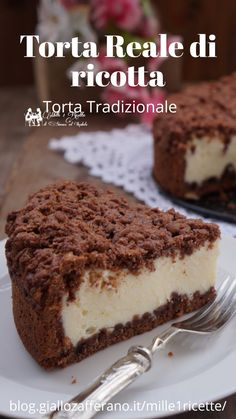 Sweets Recipes, Healthy Desserts, Just Desserts, Delicious Desserts, Ricotta, Nutella, Cheese Dessert, Torte Cake, Italian Desserts