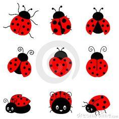 Cartoon Ladybug | Cute colorful ladybugs illustration isolated on white background Ladybird Drawing, Ladybird Tattoo, Ladybug Tattoos, Lady Bugs, Baby Ladybug, Ladybug Rocks, Tattoo Chino, Wall Stickers, Decals