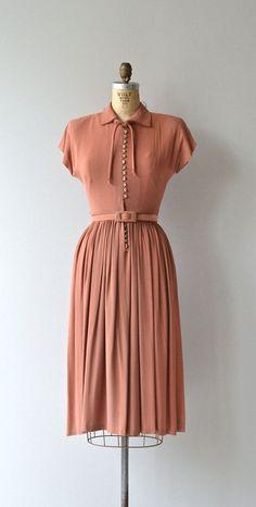 Last Letter dress vintage 1940s dress crepe 40s by DearGolden