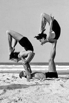 1974: Beach fun (vintage yoga photo) ...... #vintageyoga #yogahistory #yoga…