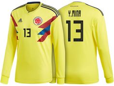 75dfefb0462 2018 Colombia World Cup Home LS Jersey 2018 Colombia World Cup Home LS  Jersey