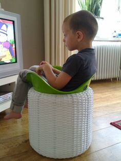 Doesn't this look comfy?  Bilibo furniture solution from an inventive kid in The Netherlands :-) #bilibo #seat #invention www.bilibo.com